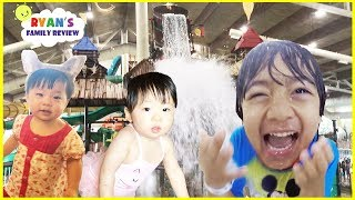 Download Twin baby's first vacation at Great Wolf Lodge Indoor Waterpark Playground for kids +Hotel Room Tour Video