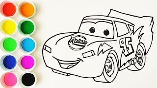 Download Cómo Dibujar y Colorear a Rayo de los Cars 3 Disney - Dibujos Para Niños - Learn Colors / FunKeep Video