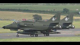Download *Rare* 2 Draken Douglas A4N Skyhawks at Prestwick Airport Video