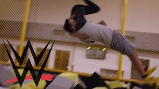 Download WWE MOVES AT THE TRAMPOLINE PARK 2 Video