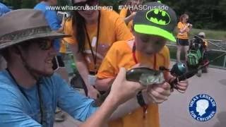 Download Kids with muscular dystrophy enjoy camp at Center for Courageous Kids Video