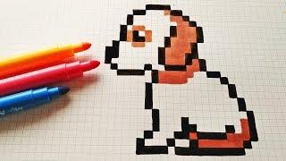 Download Handmade Pixel Art - How To Draw a Dog #pixelart Video