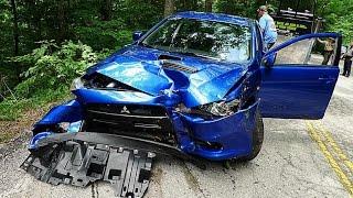 Download Mitsubishi Evolution Crash Moments! Video