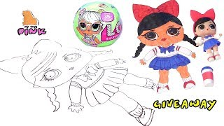 Download КАК НАРИСОВАТЬ КУКЛУ ЛОЛ С ПИНК How to Draw Coloring Pages Book for Kids Video