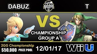 Download 2GGC - Dabuz (Rosalina) Vs. T (Link) Group A - Championship Video