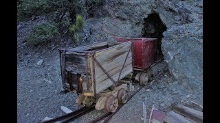 Download Incredibly Rare Wooden Ore Cart Found Inside A Mine! Video