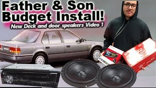 Download Father & Son Budget Car Stereo Install 1990 Honda Accord - His First Deck & Door Speakers! Video 1 Video