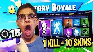 Download 1 KILL = 10 FREE SKINS FOR MY CRAZY COUSIN! LITTLE KID WINS $1,000! (bad idea) Video