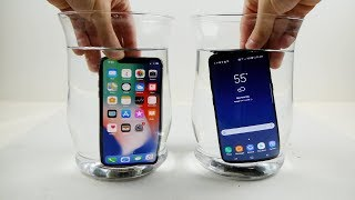 Download iPhone X vs Samsung Galaxy S8 Water Freeze Test! - What Will Happen? Video