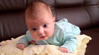 Download 3 months old baby tryies crawling Video