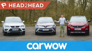 Download Toyota C-HR vs Peugeot 3008 vs SEAT Ateca - which is the best SUV? | Head2Head Video