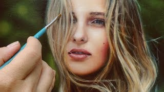 Download REALISTIC OIL PAINTING DEMO VIDEO - woman portrait by Isabelle Richard Video