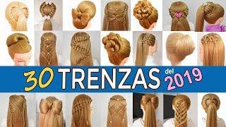 Download 30 PEINADOS FACILES y RAPIDOS con TRENZAS para NIÑAS de GRADUACIÓN - FIESTAS 2019 Video