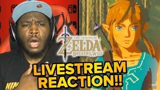 Download The Legend of Zelda Breath of the Wild - LIVE REACTION & Gameplay Trailer! Video