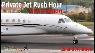 Download Private Jet Rush Hour !!! Gulfstream G650 G450 G200, Dassault Falcon 7X, Legacy 650....@ St. Kitts Video