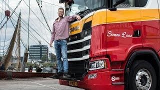 Download Lossen in de haven van Den Helder, mooi touren met m'n Scania S520! Video