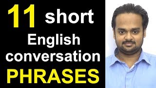 Download 11 Short English Conversation PHRASES - Speak Fluent English - Common Expressions in English Video