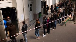Download French voters head to the polls for presidential election Video