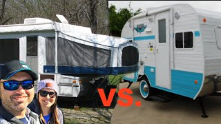 Download POP UP CAMPER VS TRAVEL TRAILER! (PROs and CONs) Video