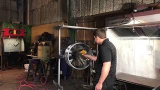 Download Powder Coating C7 Vet Wheels Gloss Black Video