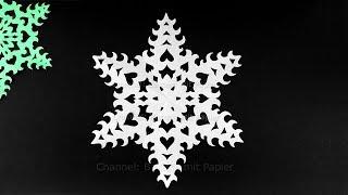 Download Schneeflocken basteln mit Papier für Weihnachten ❄ DIY Sterne Bastelideen - Deko Weihnachtsbasteln Video