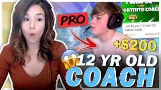 Download I Hired a 12 YEAR OLD Fortnite Pro from Fiverr to Carry Me! Pokimane Video