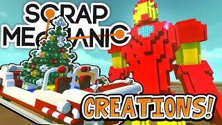 Download Scrap Mechanic CREATIONS! - GIANT IRON MAN!! [#23] W/AshDubh | Gameplay | Video