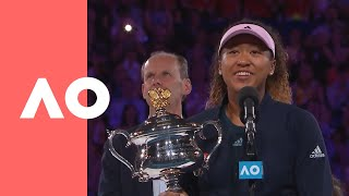 Download Naomi Osaka championship-winning speech (F) | Australian Open 2019 Video