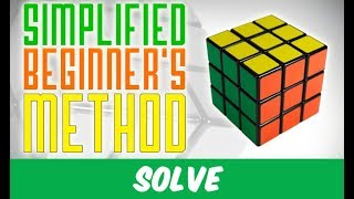 Download The Simplified Beginner's Method for the Rubik's Cube (4 algorithms only !) Video