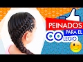 ✔️Peinados recogidos ✔️Doble trenza lateral en puente 🤗Collected hairstyles