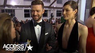Download Justin Timberlake Reacts To Jessica Biel's Fab Golden Globes Look | Access Hollywood Video