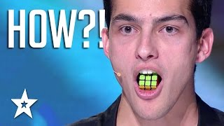Download TONGUE TWISTER! Guy Solves Rubik's Cube With TONGUE | Got Talent Global Video