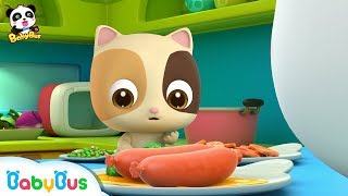 Download Baby Kitten Loves Eating Hams | Learn Vegetables | Kids Good Habits | BabyBus Video