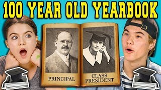 Download TEENS REACT TO A 100 YEAR OLD YEARBOOK?! Video