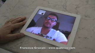 Download iPad 2 Facetime test over 3g tethering via iPhone [ITALIAN] Video