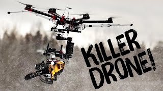 Download KILLERDRONE! Flying chainsaw Video