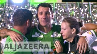 Download Brazil: Fans pay tribute to Chapecoense footballers Video