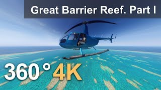 Download 360, The Great Barrier Reef, Australia. Part I. 4K aerial video Video