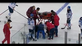 Download IIHF 2014 Finland-Russia | Vadim Shipachyov Insane Hit To Pekka Jormakka Video