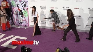 Download Jaden Smith and Kylie Jenner Avoid Posing Together at Justin Bieber's ″Believe″ Premiere Video