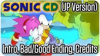 Download Sonic CD (JP Version) Intro, Bad Ending, Good Ending Credits Video