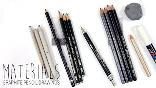 Download Drawing Materials/Art Supplies I use for my graphite pencil drawings | Emmy Kalia Video