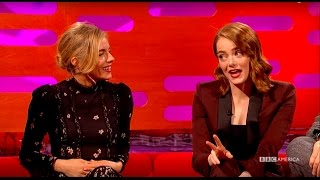 Download Emma Stone and Sienna Miller Compare ″Cabaret″ Catastrophes - The Graham Norton Show Video