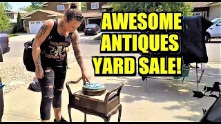 Download Ep190: THIS YARD SALE IS FULL OF AMAZING ANTIQUES! - The ORIGINAL GO-PRO Yard Sale VLOG Video