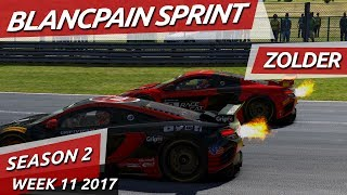 Download Starting from the back! Blancpain Sprint @ Zolder iRacing Video