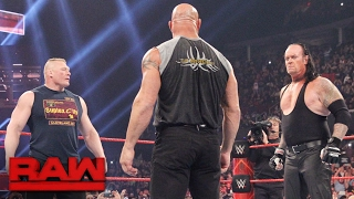 Download Brock Lesnar goes face-to-face with Goldberg and The Undertaker: Raw, Jan. 23, 2017 Video