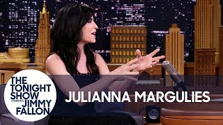 Download Julianna Margulies Scoops Her Dog's Poop with Donald Trump Bags Video