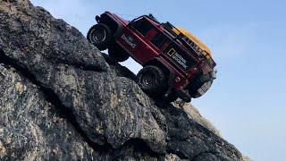 Download Traxxas TRX4 Defender Beach Rock Crawling # Video