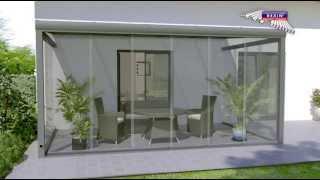 Download Glasschiebewand auf Terrasse als Windschutz (Montageanleitung) Video
