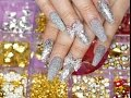 Download Diseño de uñas Acrílicas Plateado Perfecto para Temporada Navideña 🎄 Video